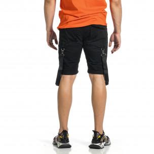 Pantaloni scurți bărbați Yes Design negri  2