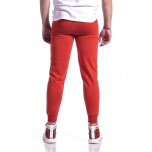 Pantaloni sport bărbați Soni Fashion roșu 2