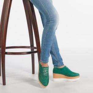 Pantofi cu platforma de dama VeraBlum verzi 2
