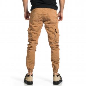 Pantaloni cargo bărbați Blackzi camel Blackzi 2
