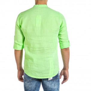 Cămașă cu mânecă lungă bărbați Duca Fashion verde 2