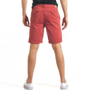 Pantaloni scurți bărbați Bread & Buttons roșii 2