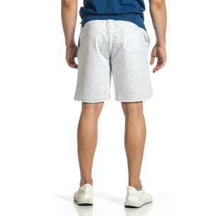 Pantaloni scurți bărbați Breezy gri  2