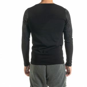 Bluză bărbați Lagos neagră  2