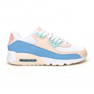 Pantofi sport de dama cu pernă de aer în culori delicate
