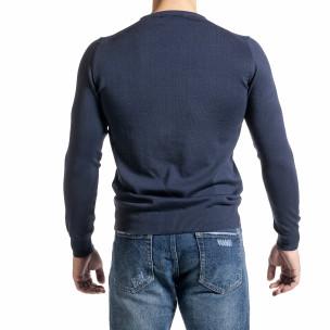 Pulover bărbați Code Casual albastru 2