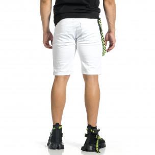 Pantaloni scurți bărbați Yes Design albi  2