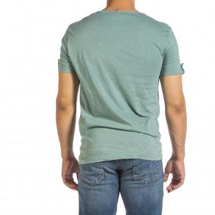 Tricou bărbați Made in Italy verde 2