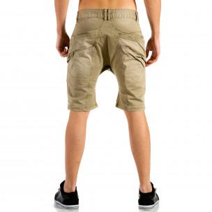 Pantaloni scurți bărbați X-three bej  2