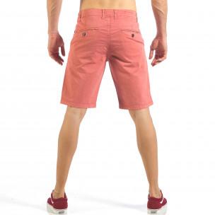 Pantaloni scurți de bărbați roz cu buzunare italiene  2