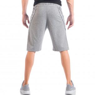 Pantaloni scurți gri #Dream# pentru bărbați  2