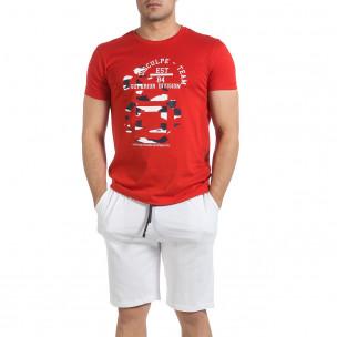 Set sportiv bărbați Disculpe roșu