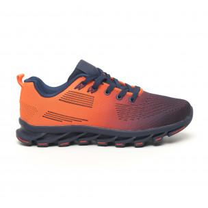 Adidași Blade în culoarea albastră și portocalie