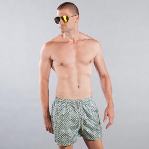 Costum de baie pentru bărbați cu motiv marin