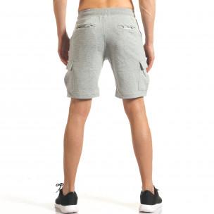 Pantaloni scurți bărbați Bread & Buttons gri 2