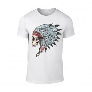 Tricou pentru barbati Indian alb TEEMAN