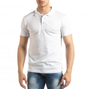 Tricou subțire alb Polo shirt pentru bărbați