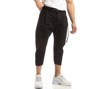 Pantaloni negri Cropped pentru bărbați