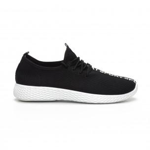 Pantofi sport din țesătură tehnică neagră pentru bărbați 2