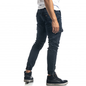 Pantaloni cargo de bărbați albaștri cu fermoare Mythic