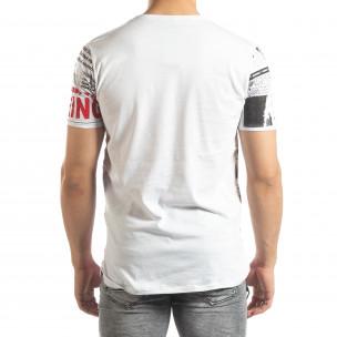 Tricou alb pentru bărbați Exclusive News 2