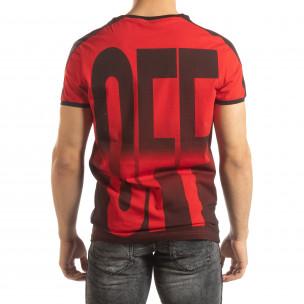 Tricou roșu ON/OFF pentru bărbați  2