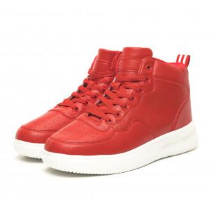 Teniși înalți de bărbați roșii șagrin 2