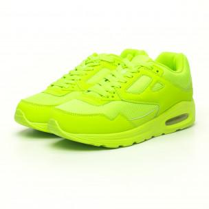 Adidași de bărbați verde neon cu pernă de aer  2