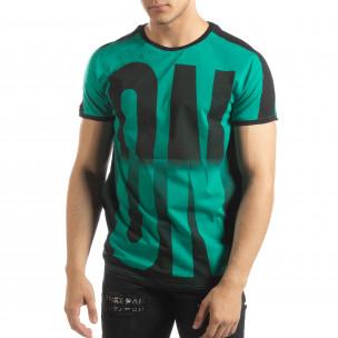 Tricou verde ON/OFF pentru bărbați