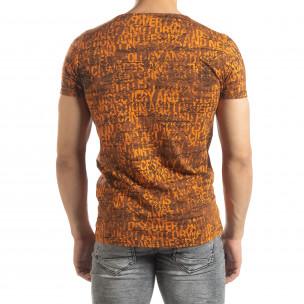 Tricou de bărbați Vintage în portocaliu 2