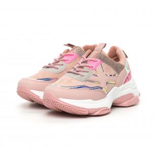 Pantofi sport de dama roz Chunky cu accente MIX 2
