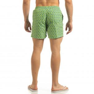 Șort de baie verde pentru bărbați motiv Octopus 2