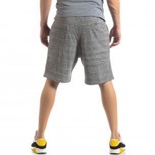 Pantaloni sport scurți de bărbați în melanj gri  2