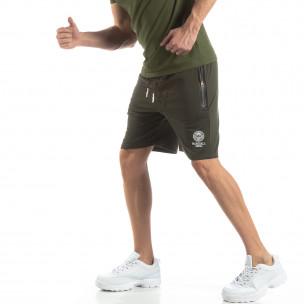 Pantaloni sport scurți verzi pentru bărbați