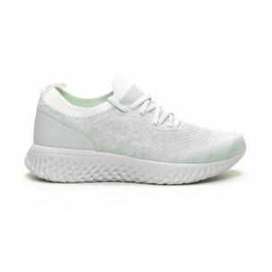 Pantofi sport albi ușori de dama tip șosetă