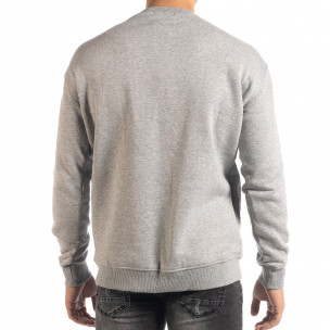 Bluză gri flaușată tip hanorac 2