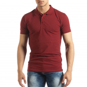 Tricou subțire roșu închis Polo shirt pentru bărbați