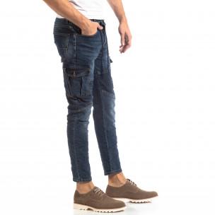 Cargo Jeans albaștri pentru bărbați