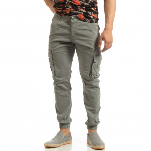 Pantaloni gri cargo jogger pentru bărbați 2
