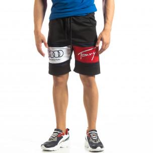 Pantaloni scurți de sport negri GOOD pentru bărbați