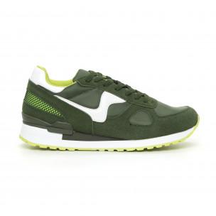 Adidași combinați în nuanțe de verde pentru bărbați