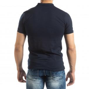 Tricou subțire bleumarin Polo shirt pentru bărbați   2