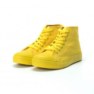 Teniși înalți galbeni pentru dama 2