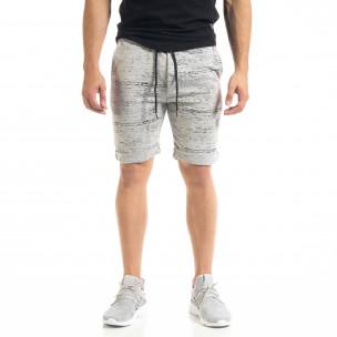 Pantaloni scurți bărbați Alpini Firenze gri