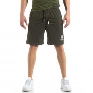Pantaloni sport scurți verzi pentru bărbați  2