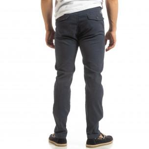 Pantaloni CHINO albaștri pentru bărbați  2