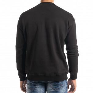 Bluză neagră flaușată tip hanorac 2