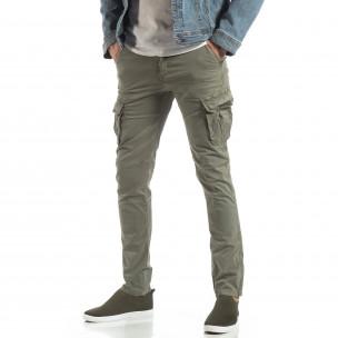 Pantaloni în gri-bej tip cargo pentru bărbați 2