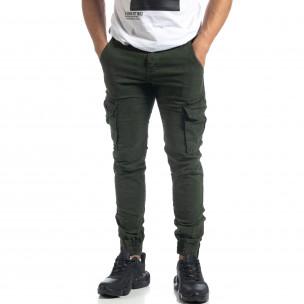 Pantaloni cargo Jogger de bărbați în culoarea Olive 2