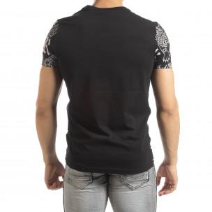 Tricou negru pentru bărbați cu simboluri 2